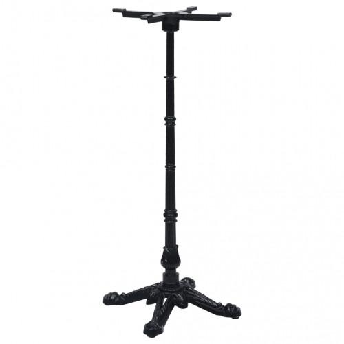 Dream Living Bordsben för cafébord svart 52x52x108 cm gjutjärn