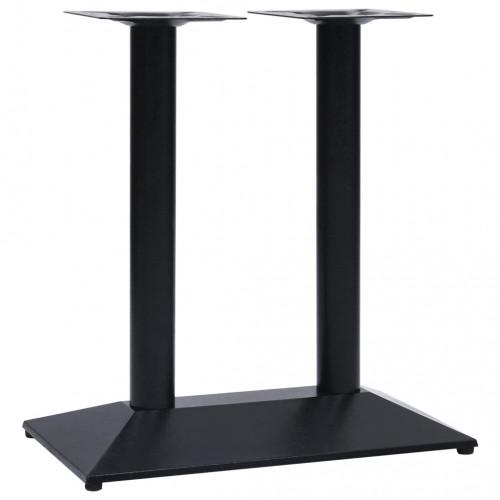 Dream Living Bordsben för cafébord svart 70x40x72 cm gjutjärn