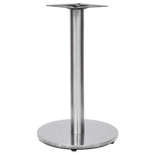 Dream Living Bordsben för cafébord silver Ø45x72 cm rostfritt stål