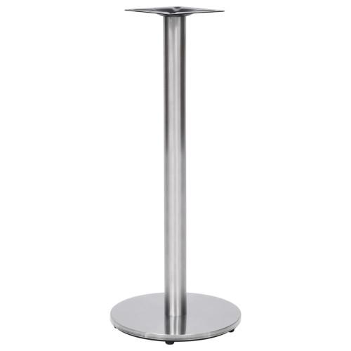 Dream Living Bordsben för cafébord silver Ø45x107 cm rostfritt stål