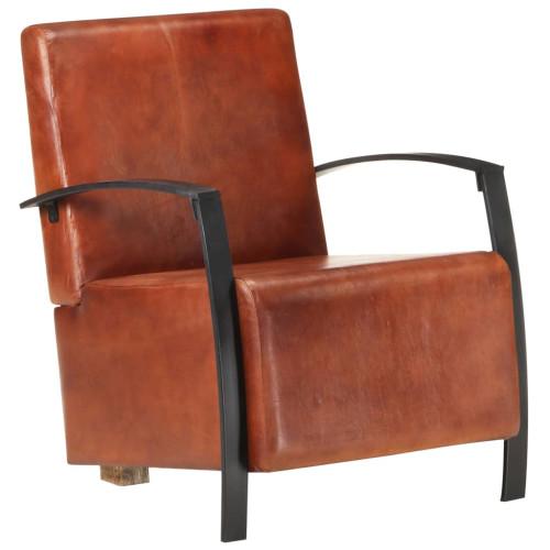 Dream Living Fåtölj äkta läder brun