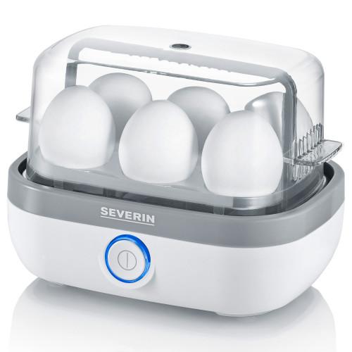 Severin Äggkokare 6 ägg vit LED & ljud