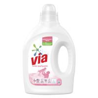 VIA Via Flytande tvättmedel Color Parfymfri 760 ml