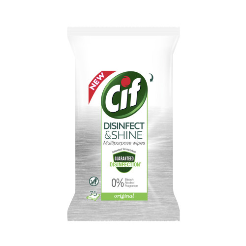 Cif Cif Rengöringswipes Disinfect & Shine Multipurpose 75-pack