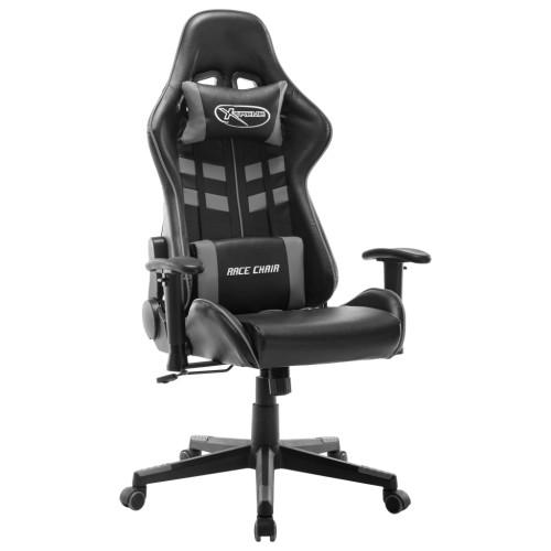 vidaXL Gamingstol svart och grå konstläder