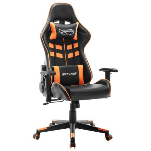 vidaXL Gamingstol svart och orange konstläder