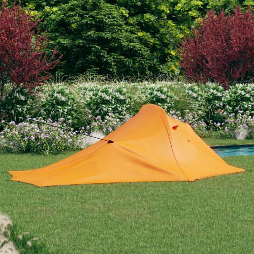 vidaXL Campingtält 317x240x100 cm orange och grå