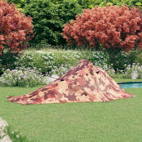 vidaXL Campingtält 317x240x100 cm kamouflage