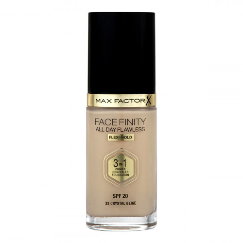 Max Factor All Day Flawless 3 in 1 Foundation SPF 20 30ml Crystal Beige 33