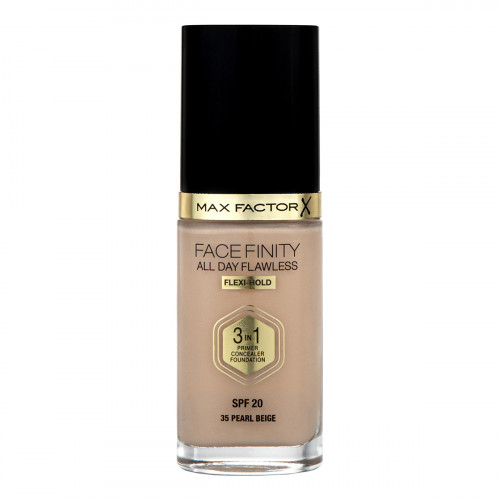 Max Factor All Day Flawless 3 in 1 Foundation SPF 20 30ml Pearl Beige 35