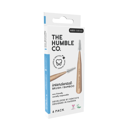 The humble co. Interdental Brush Bamboo - Blue 6-p (size 3 - 0,6 mm)