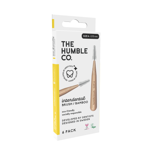 The humble co. Interdental Brush Bamboo - Yellow 6-p (size 4 - 0,7 mm)