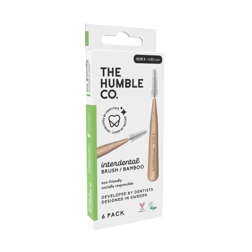 The humble co. Interdental Brush Bamboo - Green 6-p (size 5 - 0,8 mm)