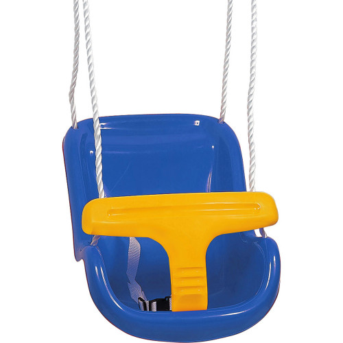 Spring Summer Baby Swing deluxe blue/yellow