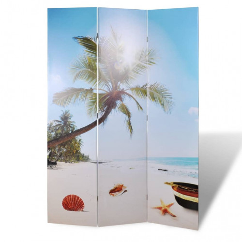 vidaXL Vikbar rumsavdelare 120x170 cm strand