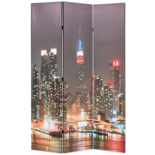 vidaXL Vikbar rumsavdelare New York i nattetid 120x170 cm