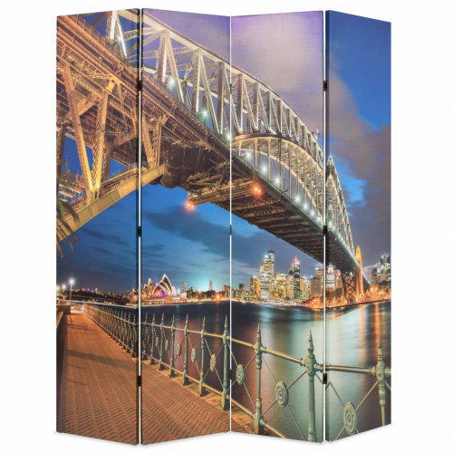 vidaXL Hopfällbar rumsavdelare Sydney Harbour Bridge 160x170 cm
