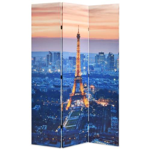 vidaXL Vikbar rumsavdelare Paris i nattetid 120x170 cm