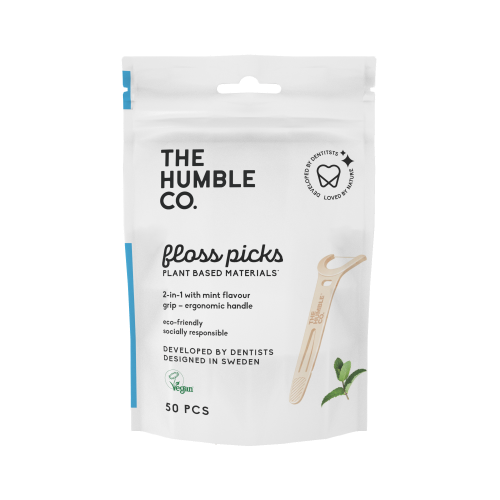 The humble co. Floss Picks - Grip Handle - Mint (50 pack)