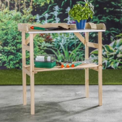 HI HI Planteringsbord trä 82x38x78 cm