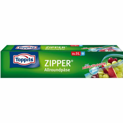 Toppits ZIPPER 3L   12st