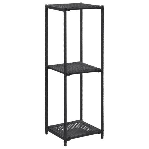 vidaXL Förvaringshylla svart 30x30x90 cm konstrotting