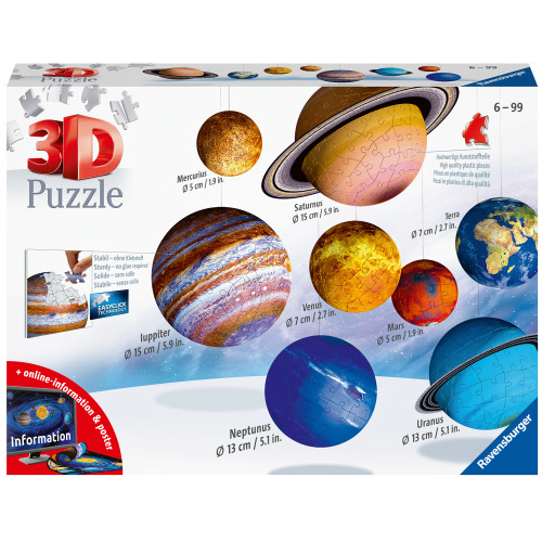 Ravensburger 3D Puzzle Solar System 27/54/7