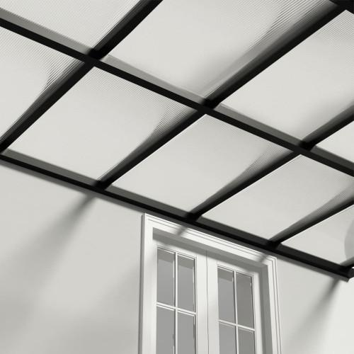 vidaXL Polykarbonatark 14 st 4 mm 121x60 cm