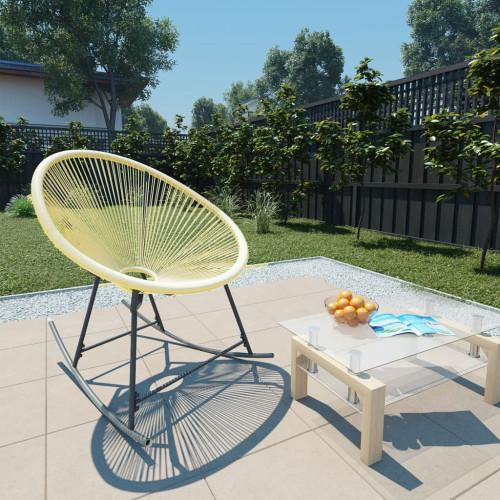 vidaXL Gungstol för trädgården konstrotting beige