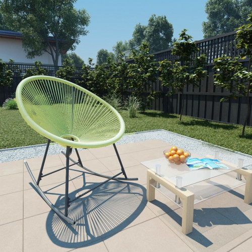 vidaXL Gungstol för trädgården konstrotting grön