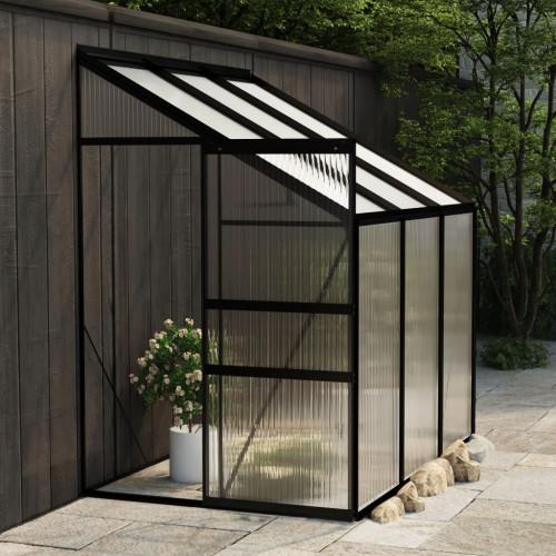 vidaXL Växthus antracit aluminium 3,8 m³