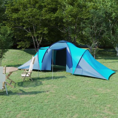 vidaXL Tält för 6 personer blå och ljusblå