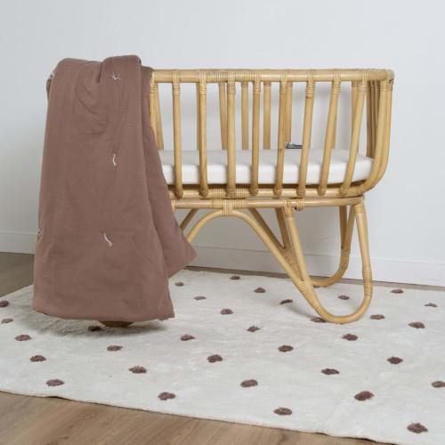 CHILDHOME CHILDHOME Kviltad filt 140x100 cm rödbrun