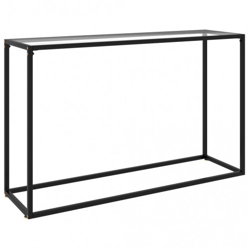 vidaXL Konsolbord transparent 120x35x75 cm härdat glas