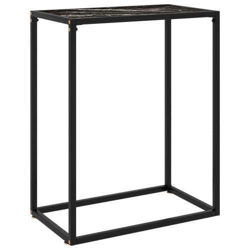 vidaXL Konsolbord svart 60x35x75 cm härdat glas