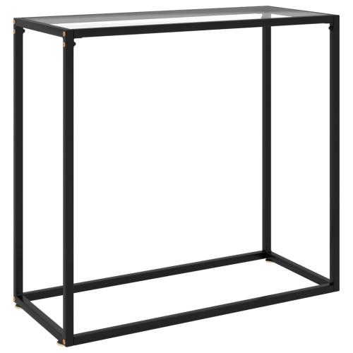 vidaXL Konsolbord transparent 80x35x75 cm härdat glas
