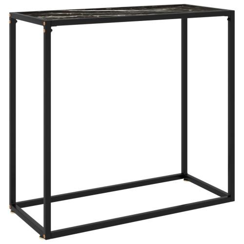 vidaXL Konsolbord svart 80x35x75 cm härdat glas