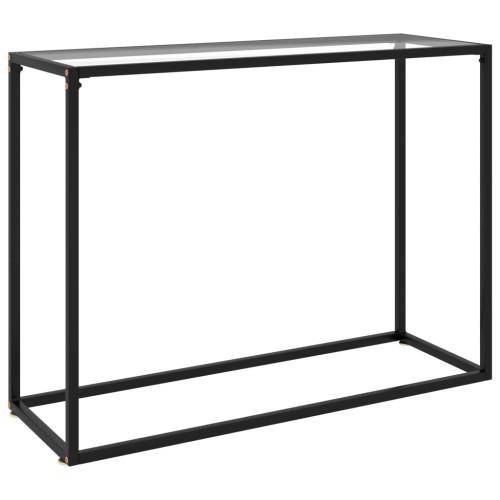 vidaXL Konsolbord transparent 100x35x75 cm härdat glas