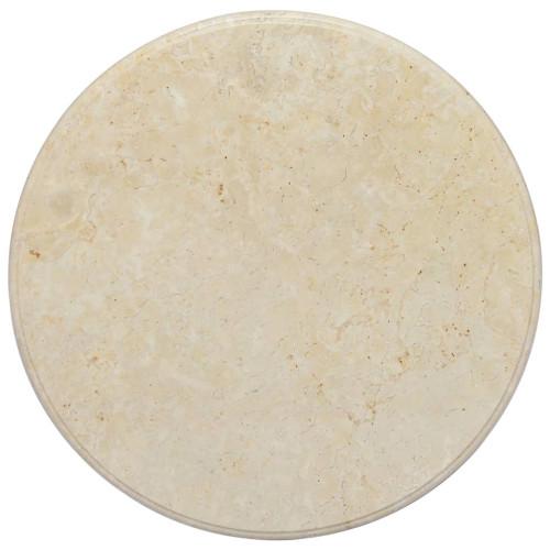 vidaXL Bordsskiva gräddvit Ø60x2,5 cm marmor