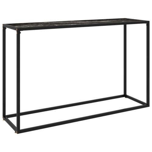 vidaXL Konsolbord svart 120x35x75 cm härdat glas