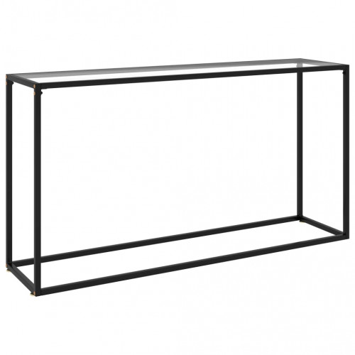 vidaXL Konsolbord transparent 140x35x75 cm härdat glas