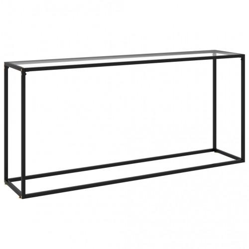 vidaXL Konsolbord transparent 160x35x75 cm härdat glas