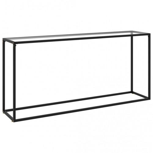 vidaXL Konsolbord svart 160x35x75 cm härdat glas