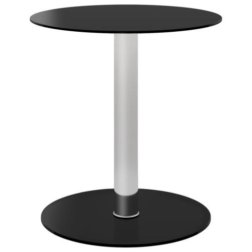 vidaXL Soffbord svart 40 cm härdat glas