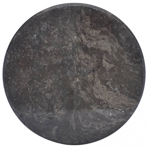 vidaXL Bordsskiva svart Ø50x2,5 cm marmor