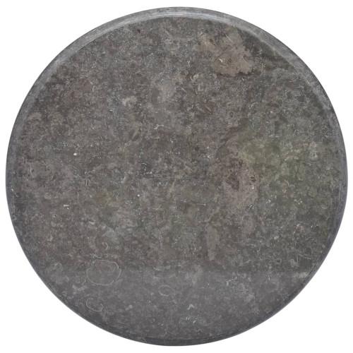 vidaXL Bordsskiva svart Ø60x2,5 cm marmor