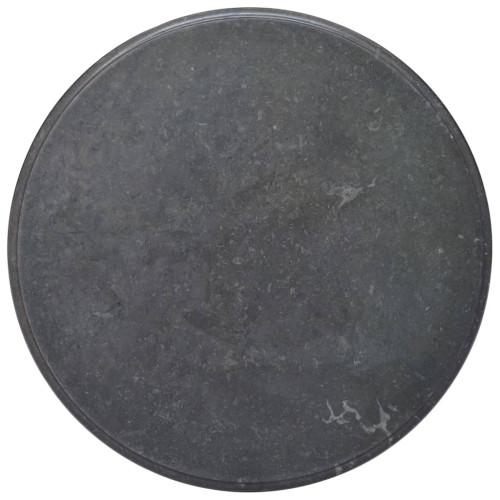 vidaXL Bordsskiva svart Ø70x2,5 cm marmor