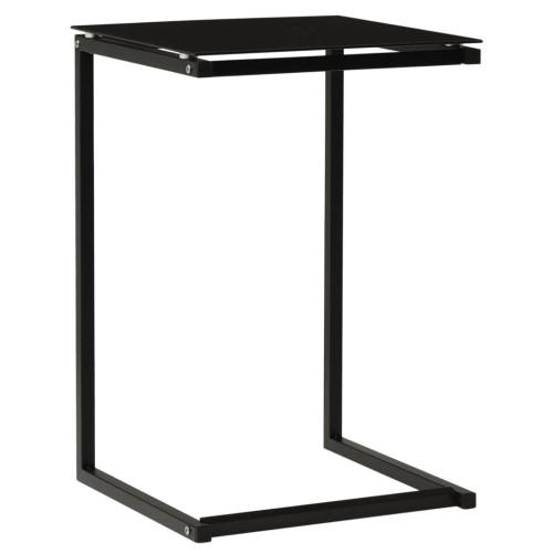 vidaXL Sidobord svart 40x40x60 cm härdat glas