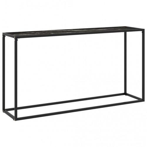 vidaXL Konsolbord svart 140x35x75 cm härdat glas