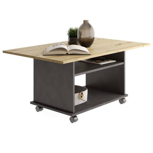 FMD FMD Soffbord med hjul artisan-ek och svart